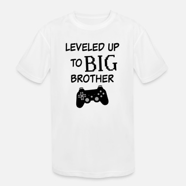 Up Leveled up to Big Brother Shirt Video Game Funny - Kids' Sport T-Shirt