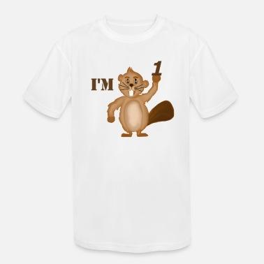 Qiop Nee Funny Cartoon Beaver Short Sleeves T Shirts Baby Girls