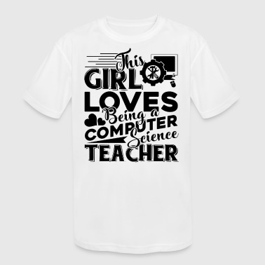 Computer Science Teache Shirt - Kid's Moisture Wicking Performance T-Shirt