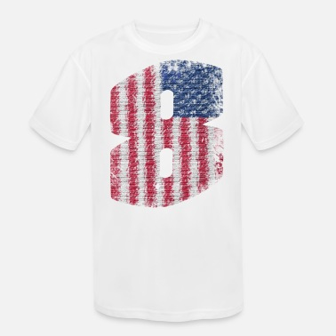 Number 8 American Flag - Kids' Sport T-Shirt