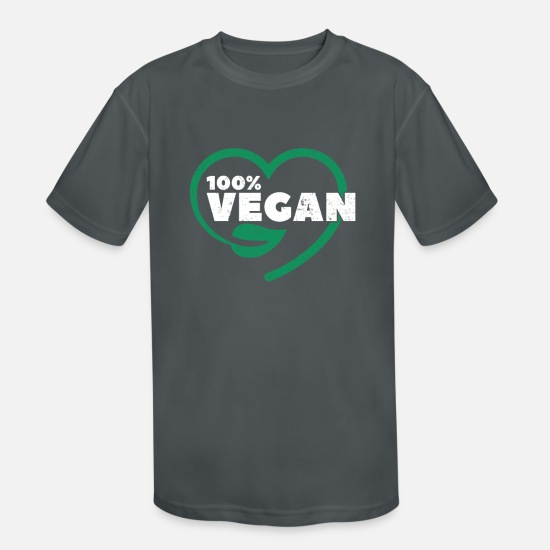 Malle T-Shirts - Vegan Healthy Organic Natural Diet Veganism - Kids' Sport T-Shirt charcoal