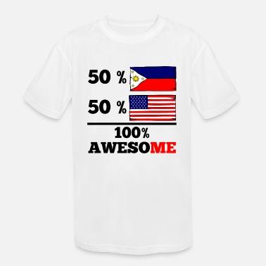 dd360765f98 Half Filipino Half American Flag Half Filipino Half American 100% Awesome -  Kids  39
