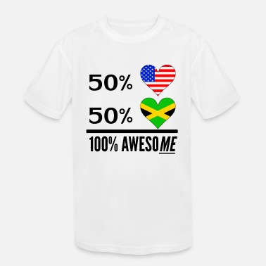 Half Jamaican Half American Half American Half Jamaican 100% Awesome - Kids' Sport T-Shirt