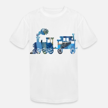 Thomas artTS collage art TRAIN SET bluz - Kids' Sport T-Shirt