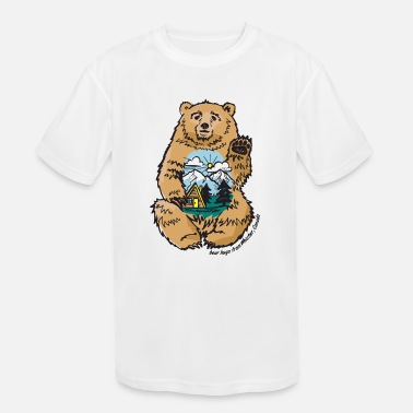 Ginette Guiver happy belly bear - Kids' Sport T-Shirt