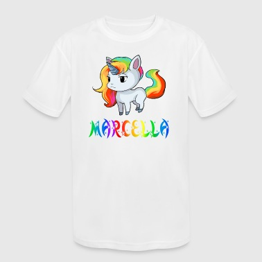 Marcella Unicorn - Kid's Moisture Wicking Performance T-Shirt