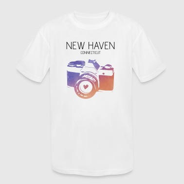 Camera New Haven - Kid's Moisture Wicking Performance T-Shirt
