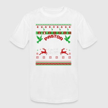 Pastor Shirt - Pastor Christmas Shirt - Kid's Moisture Wicking Performance T-Shirt