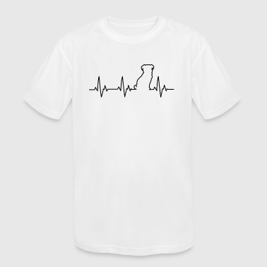 Pulse Pug Pulse Silhouette ECG Heart Beat - Kid's Moisture Wicking Performance T-Shirt