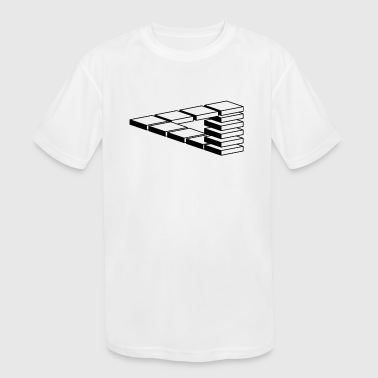 optical illusion - Kid's Moisture Wicking Performance T-Shirt