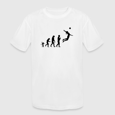 Volleyball evolution, #Volleyball - Kid's Moisture Wicking Performance T-Shirt