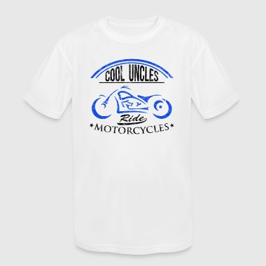Cool Uncle Vintage Biker - Kid's Moisture Wicking Performance T-Shirt