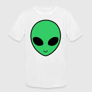 Alien Funny green Cute - Kid's Moisture Wicking Performance T-Shirt