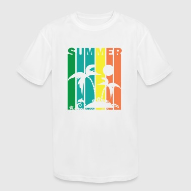 Summer Vibes Island Beach Surf - Kid's Moisture Wicking Performance T-Shirt