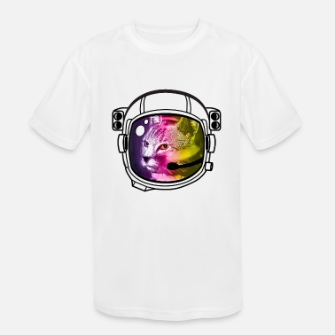 Nasa astro rainbow cat Helmet Space sci-Fi Nerd nasa - Kids' Sport T-Shirt