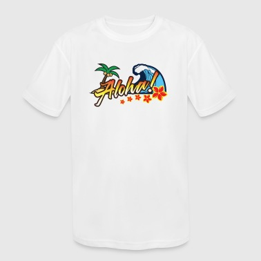 Hawaii - Kid's Moisture Wicking Performance T-Shirt