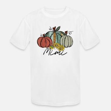 Pumpkin Sunflower For Mimi On Fall - Kids' Sport T-Shirt