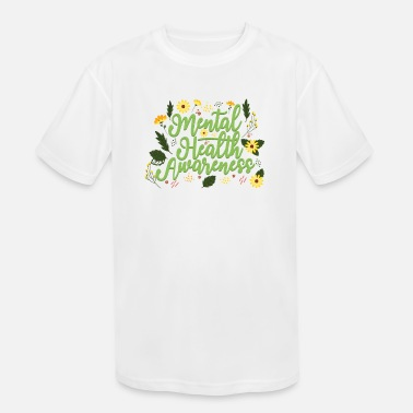 Self Mental Health Awareness Month Retro Positive Quote - Kids' Sport T-Shirt