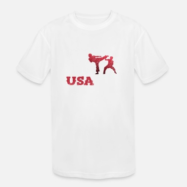 Do Tae Kwon Do American Flag Team Martial Arts Karat - Kids' Sport T-Shirt