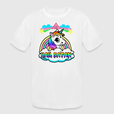 UNICORN HAIL SATAN - Kid's Moisture Wicking Performance T-Shirt