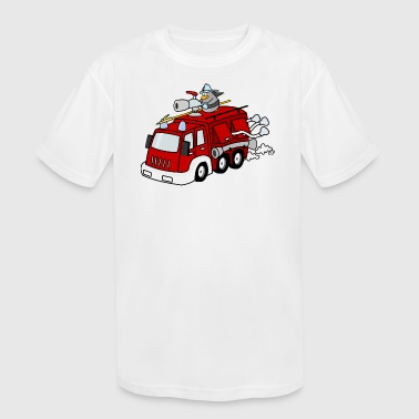 Fire Pingu - Kid's Moisture Wicking Performance T-Shirt