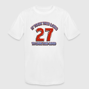 27th birthday designs - Kid's Moisture Wicking Performance T-Shirt