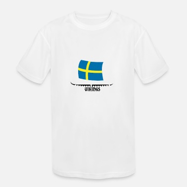 Sweden My Ancestors Were Vikings Sweden White - Gift Idea - Kids' Sport T-Shirt