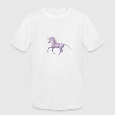 unicorn riding - Kid's Moisture Wicking Performance T-Shirt