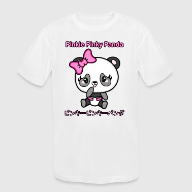 Pinkie Pinky Panda Poster - Kid's Moisture Wicking Performance T-Shirt