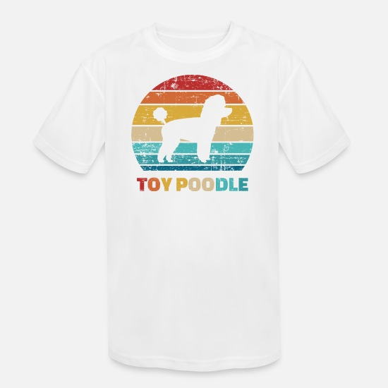 Poodle T-Shirts - Toy Poodle - Kids' Sport T-Shirt white