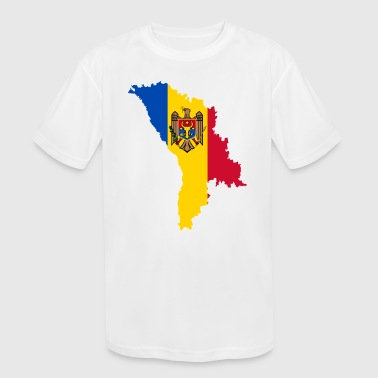 Moldova moldova - Kid's Moisture Wicking Performance T-Shirt