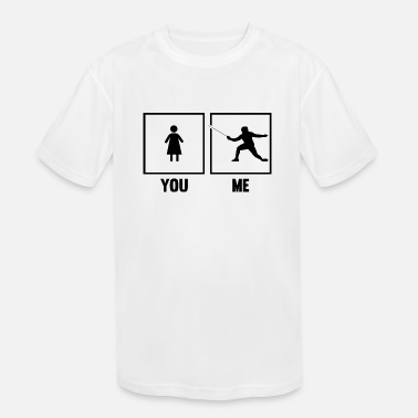Sword Fight Fencing Epee Fencer Sword Fighter You Me Martial A - Kids' Sport T-Shirt