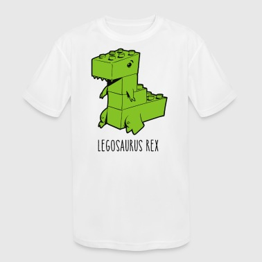 Legosaurus Legosaurus Rex - Kid's Moisture Wicking Performance T-Shirt