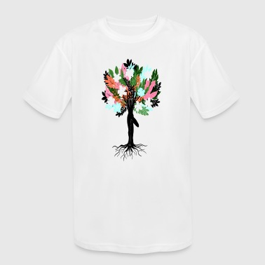 Tree Pose - Kid's Moisture Wicking Performance T-Shirt