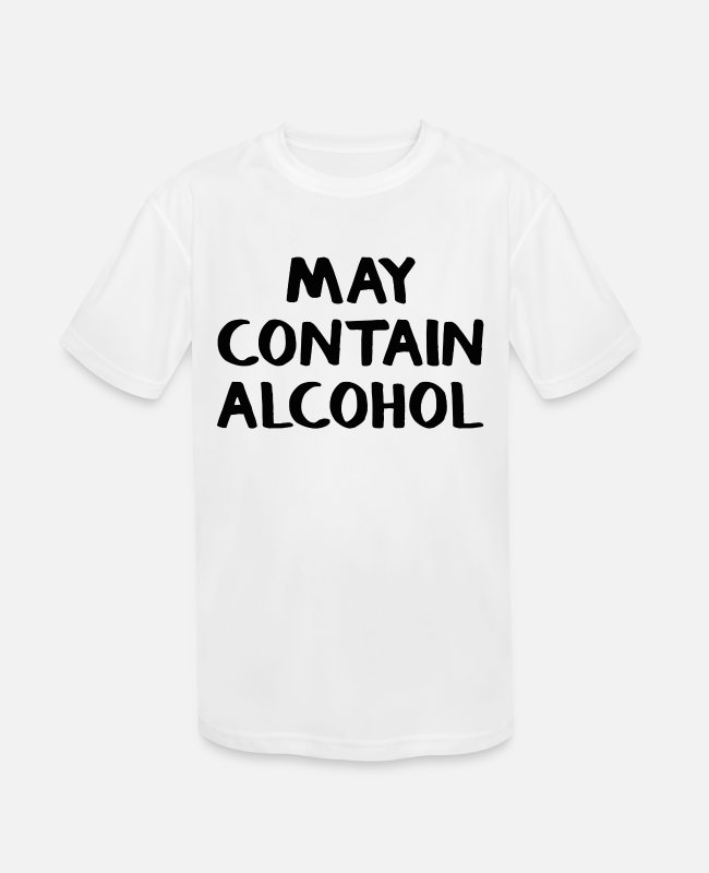 Party T-Shirts - May contain alcohol - Kids' Sport T-Shirt white