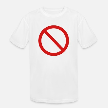 Not Allowed Not allowed sign - Kids' Sport T-Shirt