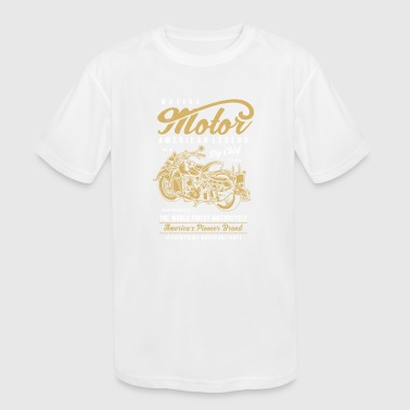 Native Motorcycle - Kid's Moisture Wicking Performance T-Shirt