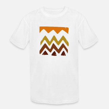 Abstract Retro Hand Painted Tribal Shapes - Kids' Sport T-Shirt