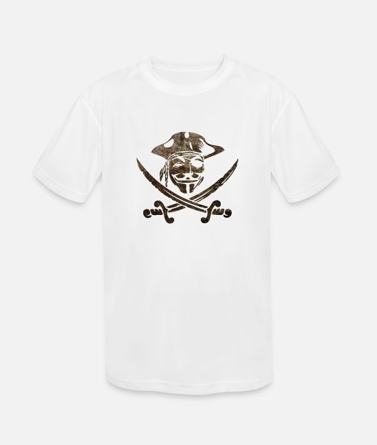 Anon T-Shirts - Digital Pirates - Kids' Sport T-Shirt white
