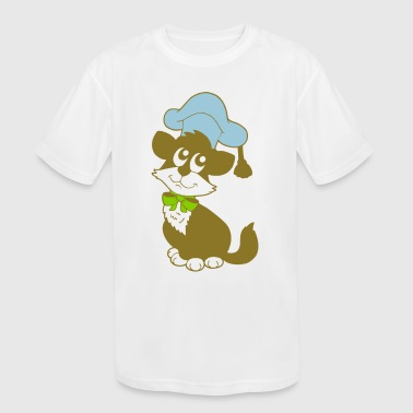 Hipster Kitten Kitten - Kid's Moisture Wicking Performance T-Shirt