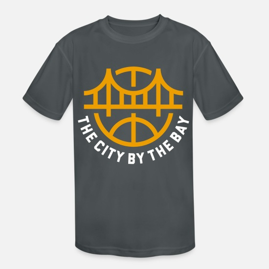 State Capital T-Shirts - Golden State Basketball - Kids' Sport T-Shirt charcoal