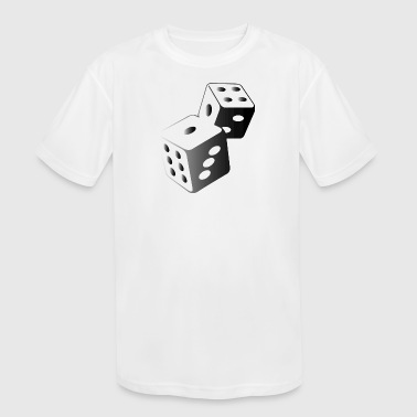 Two Dice At The Casino - Kid's Moisture Wicking Performance T-Shirt