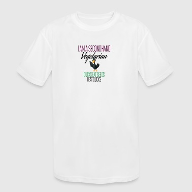 I am a secondhand vegetarian - Kid's Moisture Wicking Performance T-Shirt