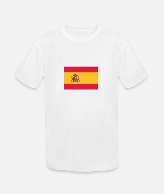 Don Quijote T-Shirts - National Flag Of Spain - Kids' Sport T-Shirt white
