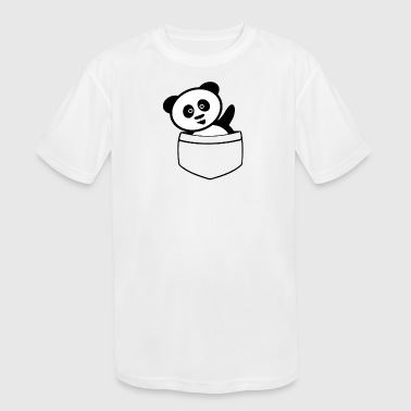 Panda In Pocket Pocket panda - Kid's Moisture Wicking Performance T-Shirt