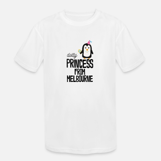 Skies T-Shirts - dotty Princess from Melbourne - Kids' Sport T-Shirt white