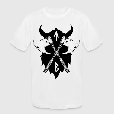 Vikings Viking Axe, Greeting from Valhall - Kid's Moisture Wicking Performance T-Shirt