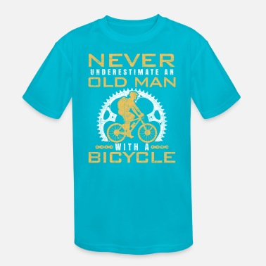 Bmx Grandfather bicycle old man cyclist grandfather - Kids' Sport T-Shirt