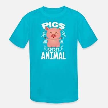 Life Is Better With A Pig Farm Farmer Girls Pigs Are My Spirit Animal - Kids' Sport T-Shirt