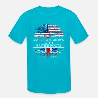 British American grown with british roots - Kids' Sport T-Shirt